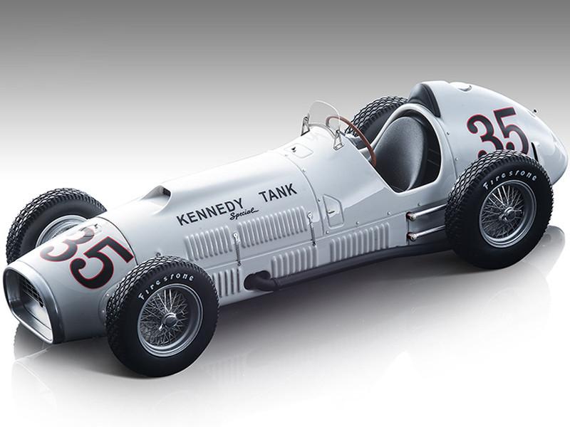 Ferrari 375 F1 Indy #35 Johnny Mauro Kennedy Tank Special 36th Indianapolis 500 Mile 1952 Mythos Series Limited Edition 110 pieces Worldwide 1/18 Model Car Tecnomodel TM18-193D