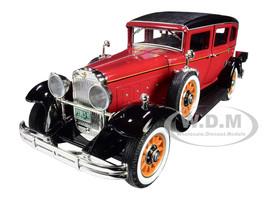 1931 Peerless Master 8 Sedan Cinnamon Red Black 1/18 Diecast Model Car Autoworld AW284