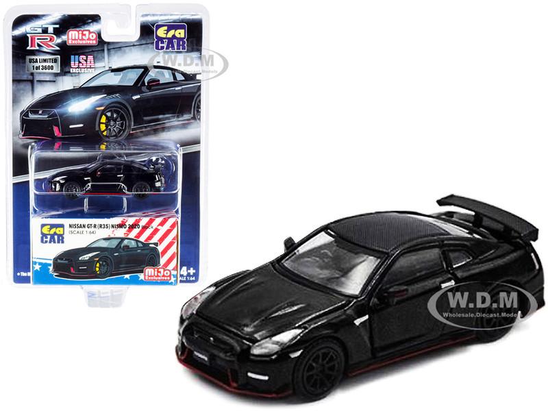2020 Nissan GT-R R35 Nismo RHD Right Hand Drive Black Carbon Top Limited Edition 3600 pieces 1/64 Diecast Model Car Era Car ESPMJ001B