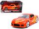 Orange Julius' Mazda RX-7 Orange Metallic Graphics Fast & Furious Series 1/32 Diecast Model Car Jada 31442