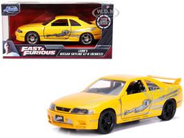Leon's Nissan Skyline GT-R BCNR33 Yellow Metallic Graphics Fast & Furious Series 1/32 Diecast Model Car Jada 99515