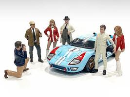 Race Day 2 6 piece Figurine Set 1/24 Scale Models American Diorama 76395 76396 76397 76398 76399 76400