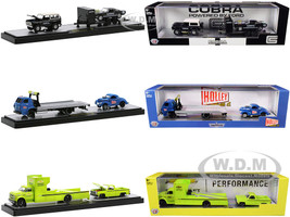 Auto Haulers Set of 3 Trucks Release 46 Limited Edition 8250 pieces Worldwide 1/64 Diecast Models M2 Machines 36000-46