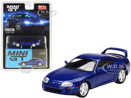 Toyota Supra JZA80 Blue Pearl Metallic Limited Edition 1200 pieces Worldwide 1/64 Diecast Model Car True Scale Miniatures MGT00211