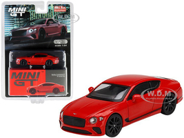Bentley Continental GT St James Red Limited Edition 1200 pieces Worldwide 1/64 Diecast Model Car True Scale Miniatures MGT00216