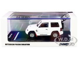 Mitsubishi Pajero Evolution RHD Right Hand Drive White Extra Wheels 1/64 Diecast Model Car Inno Models IN64-EVOP-PH