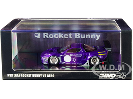 NSX NA Rocket Bunny V2 Aero RHD Right Hand Drive Purple Metallic 1/64 Diecast Model Car Inno Models IN64-NSXP-MP