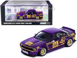 Nissan Silvia S14 Rocket Bunny Boss Aero #66 Purple Metallic Gold Graphics 1/64 Diecast Model Car Inno Models IN64-S14B-MP