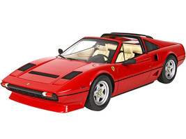 1983 Ferrari 208 GTS Turbo Convertible Rosso Corsa Red DISPLAY CASE Limited Edition 499 pieces Worldwide 1/18 Model Car BBR P18142A