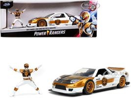 2002 Honda NSX Type-R Japan Spec RHD Right Hand Drive White Ranger Diecast Figurine Power Rangers 1/24 Diecast Model Car Jada 32795