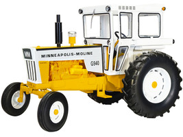 Minneapolis Moline G940 Diesel Wide Front Tractor Cab Yellow White Classic Series 1/16 Diecast Model SpecCast SCT778