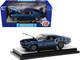 1970 Ford Mustang Mach 1 428 Dark Blue Metallic Bright Blue Stripes Limited Edition 7000 pieces Worldwide 1/24 Diecast Model Car M2 Machines 40300-86 A