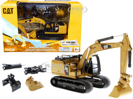 CAT Caterpillar 320F L Hydraulic Tracked Excavator 5 Work Tools Play & Collect! 1/64 Diecast Model Diecast Masters 85636