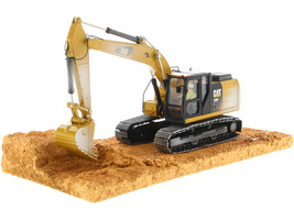 CAT Caterpillar 320F Weathered Tracked Excavator Operator Weathered Series 1/50 Diecast Model Diecast Masters 85701