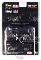 Nissan GT-R50 Italdesign Black Dark Gray Wheels Limited Edition 3600 pieces 1/64 Diecast Model Car Era Car ESPMJ002B