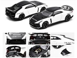 Nissan GT-R50 Italdesign Test Car Black White Limited Edition 1200 pieces 1/64 Diecast Model Car Era Car NS21GTRSP45