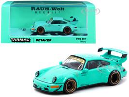 Porsche RWB 964 RHD Right Hand Drive Tiffany Teal Blue 1/64 Diecast Model Car Tarmac Works T64-037-TIF