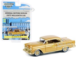 1955 Chevrolet Bel Air Gold Gold Interior The 50 Millionth General Motors Car Hobby Exclusive 1/64 Diecast Model Car Greenlight 30231