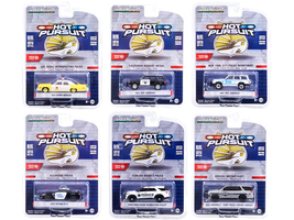 Hot Pursuit Set of 6 Police Cars Series 38 1/64 Diecast Model Cars Greenlight 42960