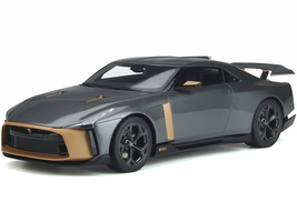 Nissan GT-R50 by Italdesign Gray Metallic Gold 1/18 Model Car GT Spirit GT300
