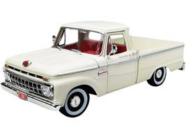 1965 Ford F-100 Custom Cab Pickup Truck White Red Interior 1/18 Diecast Model Car SunStar 1302