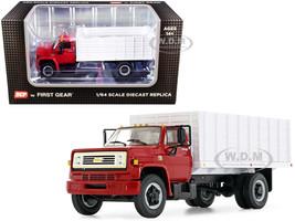 Chevrolet C65 Grain Truck Red White 1/64 Diecast Model DCP First Gear 60-0913