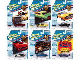 Muscle Cars USA 2021 Set A of 6 Cars Release 2 Class of 1971 1/64 Diecast Model Cars Johnny Lightning JLMC026 A