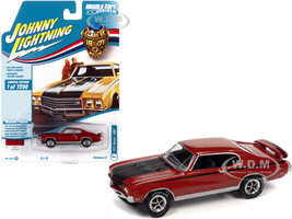 1971 Buick GSX Fire Red Black Stripes Class of 1971 Limited Edition 7298 pieces Worldwide Muscle Cars USA Series 1/64 Diecast Model Car Johnny Lightning JLMC026 JLSP151 A