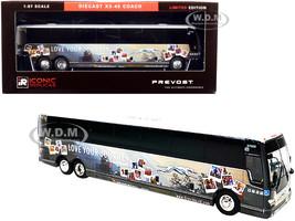Prevost X3-45 Coach Bus New York Greyhound Go Further 1/87 HO Diecast Model Iconic Replicas 87-0275