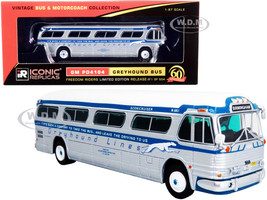 GM PD4104 Motorcoach Greyhound Bus Birmingham 60th Anniversary of the Freedom Riders Vintage Bus & Motorcoach Collection Limited Edition 504 pieces Worldwide 1/87 HO Diecast Model Iconic Replicas 87-0298