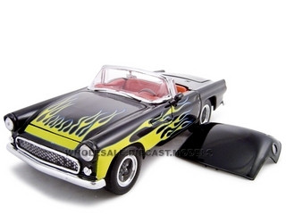 1956 Ford Thunderbird Pro Street Black 1/24 Diecast Car Unique Replicas 18510