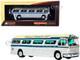 1959 GM PD4104 Motorcoach Bus S. Paulo - Rio Viacao Cometa S.A. Brazil Silver Cream Blue Stripes Vintage Bus & Motorcoach Collection 1/87 HO Diecast Model Iconic Replicas 87-0302