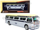 1959 GM PD4104 Motorcoach Bus Boston Michaud Lines Silver Cream Dark Blue Stripes Vintage Bus & Motorcoach Collection 1/87 HO Diecast Model Iconic Replicas 87-0303