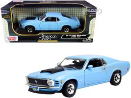 1970 Ford Mustang Boss 429 Light Blue 1/18 Diecast Model Car Motormax 73154