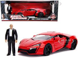 Lykan Hypersport Red Lights Dom Figurine Fast & Furious Movie 1/18 Diecast Model Car Jada 31140