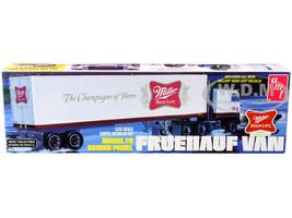Skill 3 Model Kit Fruehauf FB Beaded Panel Van Trailer Miller 1/25 Scale Model AMT AMT1234