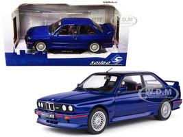 1990 BMW E30 M3 Mauritius Blue Metallic 1/18 Diecast Model Car Solido S1801509