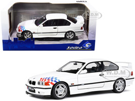 BMW E36 M3 Coupe Lightweight White with Graphics 1/18 Diecast Model Car Solido S1803903