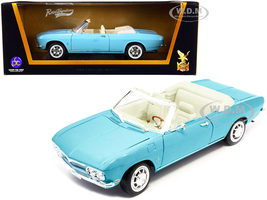 1969 Chevrolet Corvair Monza Convertible Light Blue 1/18 Diecast Model Car Road Signature 92498