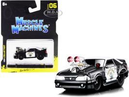 1993 Ford Mustang SVT Cobra CHP California Highway Patrol Black White 1/64 Diecast Model Car Muscle Machines 15526-15543