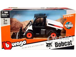 Bobcat Toolcat 5600 Utility Work Machine Pallet Fork White Black Diecast Model Bburago 31806