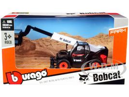 Bobcat T40.180SLP Telescopic Handler Man Platform Black White Diecast Model Bburago 32088