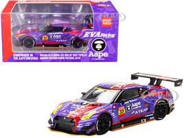 Nissan GT-R Nismo GT3 EVA RT Test Type-01 #33 Aape x Eva Racing Kakusei Edition NISMO Festival 2019 MINI GT x Pop Race 1/64 Diecast Model Car True Scale Miniatures MGT00173