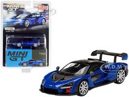 McLaren Senna Antares Blue Metallic Black Top Limited Edition 1200 pieces Worldwide 1/64 Diecast Model Car True Scale Miniatures MGT00232