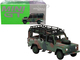 Land Rover Defender 110 RHD Right Hand Drive Roof Rack Military Camouflage 1/64 Diecast Model Car True Scale Miniatures MGT00237