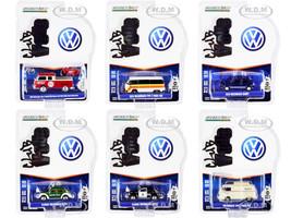 Club Vee V-Dub Set of 6 pieces Series 13 1/64 Diecast Model Cars Greenlight 36030