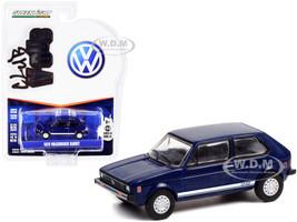 1979 Volkswagen Rabbit Tarpon Blue White Stripes Club Vee V-Dub Series 13 1/64 Diecast Model Car Greenlight 36030 C