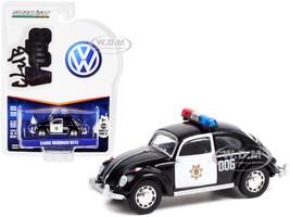 Classic Volkswagen Beetle Black White Veracruz Police Mexico Club Vee V-Dub Series 13 1/64 Diecast Model Car Greenlight 36030 E
