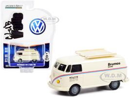 Volkswagen Type 2 Panel Van Brumos Racing Cream Red Blue Stripes Club Vee V-Dub Series 13 1/64 Diecast Model Car Greenlight 36030 F