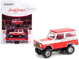1977 Ford Bronco Custom SUV Red White Red Interior Lot #847 Barrett Jackson Scottsdale Edition Series 7 1/64 Diecast Model Car Greenlight 37230 D